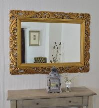 John Lewis White Ornate Carved Mirror 122cm x 91cm  - NEW - RRP £495.00